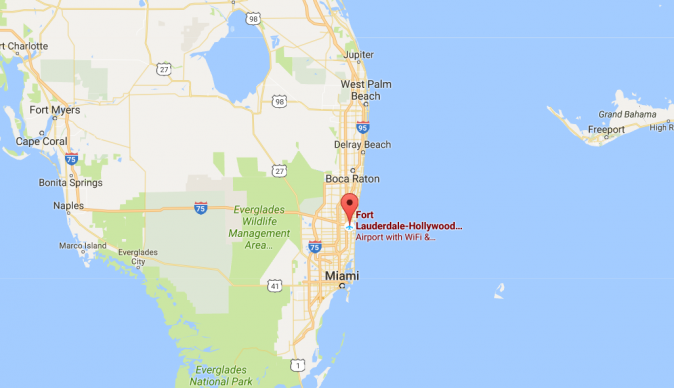 Shooting At Fort LauderdaleHollywood Airport In Florida Several - Google maps florida