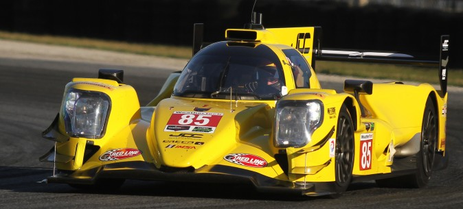 JDC-Miller Motorsports brought this high-visibilty Oreca-Gibson LMP2 to the Roar. (Chris Jasurek/Epoch Times)