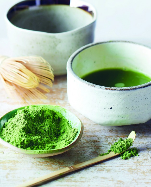 Making matcha with traditional implements. (David Munns)