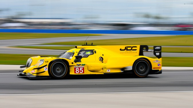 The JDC-Miller Motorsports Oreca-Gibson was easily the most visible car at the Roar. (Bill Kent/Epoch Times)