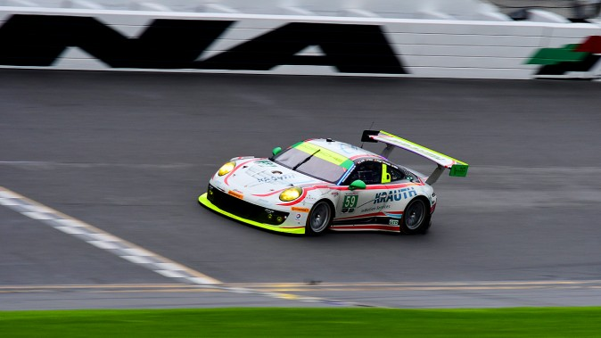 Manthey Racing, the Porsche factory team in Europe, set quickest lap in the GTD class with its #59 911 GT3 R. (Bill Kent/Epoch Times)