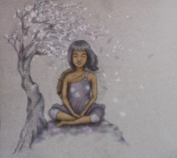 """Plum blossoms. "" (Tim Gebhart)"