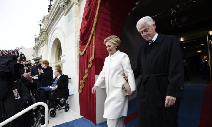 Bill and hillary clinton spotted at inauguration day the for First president to be inaugurated on january 20