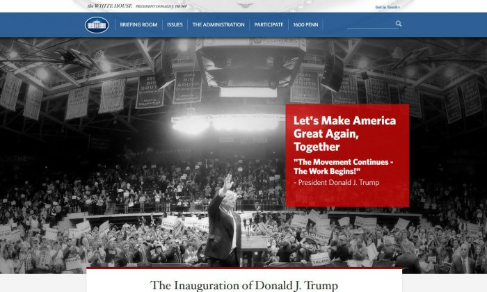 screenshot (Whitehouse.org)