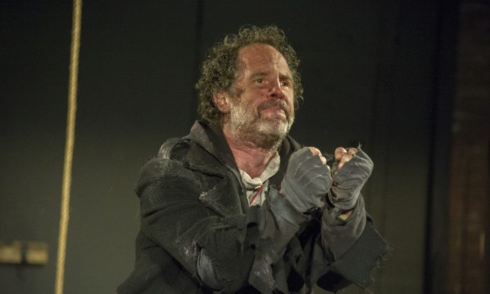 "Benjamin Evett stars as the Ancient Mariner in the one-man show, ""Albatross."" (Carole-Goldfarb)."