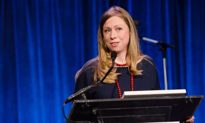 Chelsea Clinton speaks at The Gordon Parks Foundation Awards Dinner and Auction at Cipriani's Wall Street on June 3, 2014, in New York. (Scott Roth/Invision/AP)