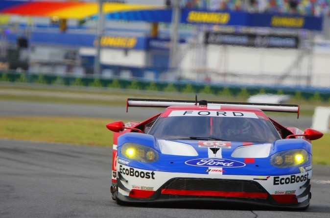 Joey Hand in the #69 Ford GT led a Ford sweep of GTLM. (Chris Jasurek/Epoch Times)