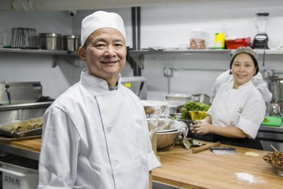 Chef Martin Chan has been making dim sum for 40 years. (Samira Bouaou/Epoch Times)