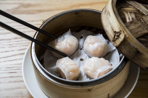 Har gow, or steamed shrimp dumplings, at Tim Ho Wan dim sum restaurant in the East Village, on Jan. 13, 2017. (Samira Bouaou/Epoch Times)