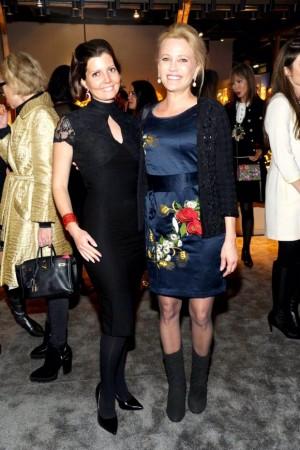 Sibylle Eschapasse (L) and Leesa Rowland. (Patrick McMullan)
