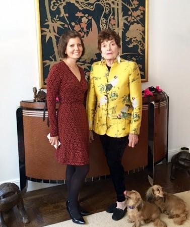 Sibylle Eschapasse and Jackie Rogers. (Norah Lawlor)