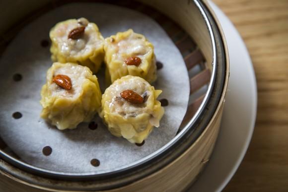 Shu mai stuffed with pork and shrimp at Tim Ho Wan dim sum restaurant in the East Village, on Jan. 13, 2017.