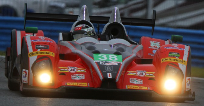 The #38 Performance Tech Oreca-Chevrolet has been in command of the Prototype Challenge class for most of the race.