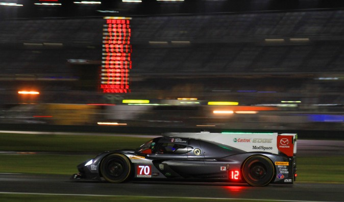 The #70 Mazda RT24-P returned after losing almost 80 laps to a gearbox change. (Chris Jasurek/Epoch Times)