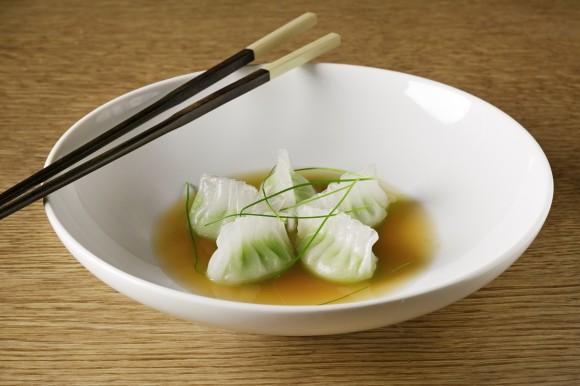 Edamame dumplings. (Courtesy of Buddakan)
