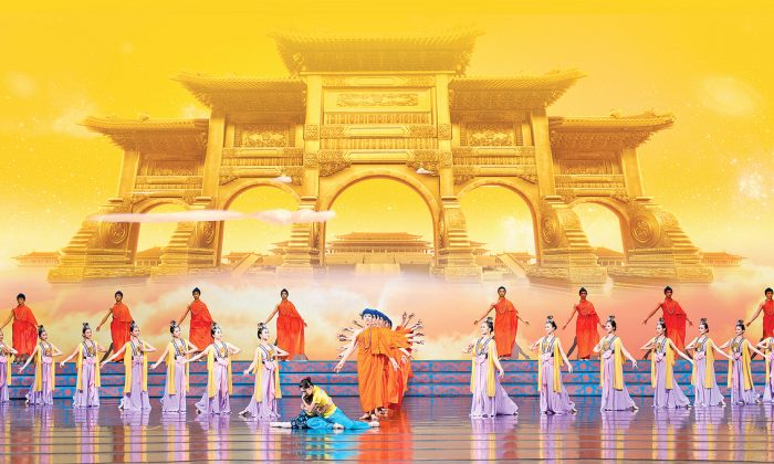 Shen Yun dancers perform a classical Chinese dance number. (Courtesy of Shen Yun Performing Arts)