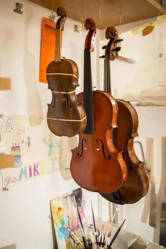The restoration shop of Rare Violins of New York in Manhattan, New York, on Jan. 9, 2017. (Samira Bouaou/Epoch Times)
