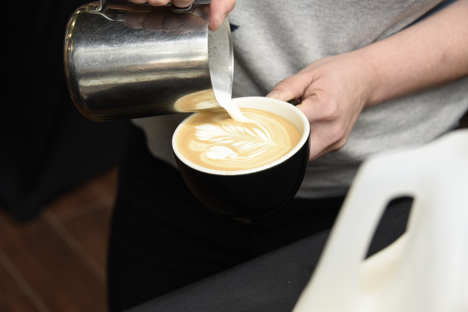 Coffee served at last year's Coffee and Tea Festival. (Karl Mischler)