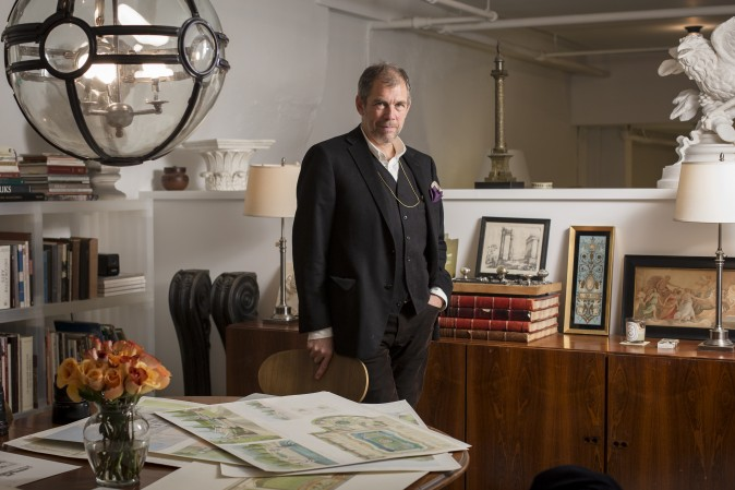 Richard Cameron, co-founder of Atelier & Co. architectural design firm in Williamsburg, Brooklyn, on Jan. 19, 2017. (Samira Bouaou/Epoch Times)