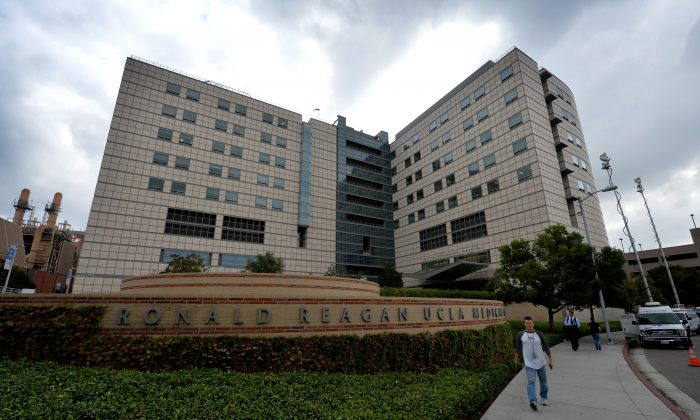 Exterior view of the Ronald Reagan UCLA Medical Center in Los Angeles. MARK RALSTON/AFP/Getty Images)