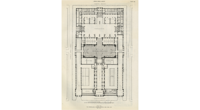 Penn Station plan (Courtesy of Richard Cameron).