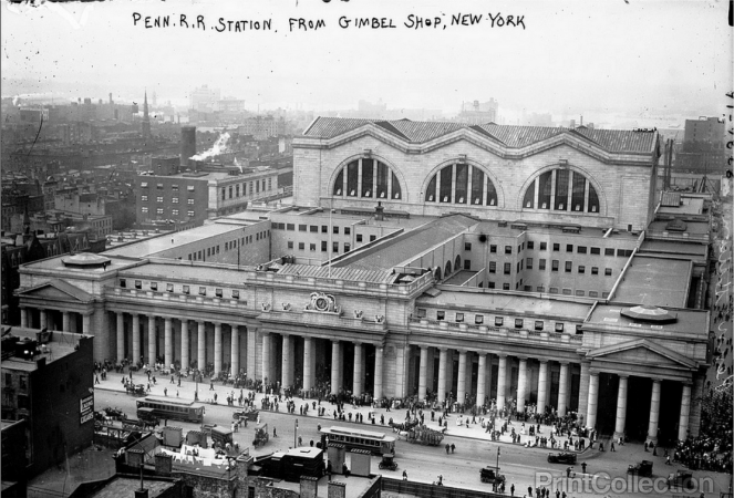 New York's Pennsylvania Station as seen from Gimbels' department store in 1911. (Library of Congress)