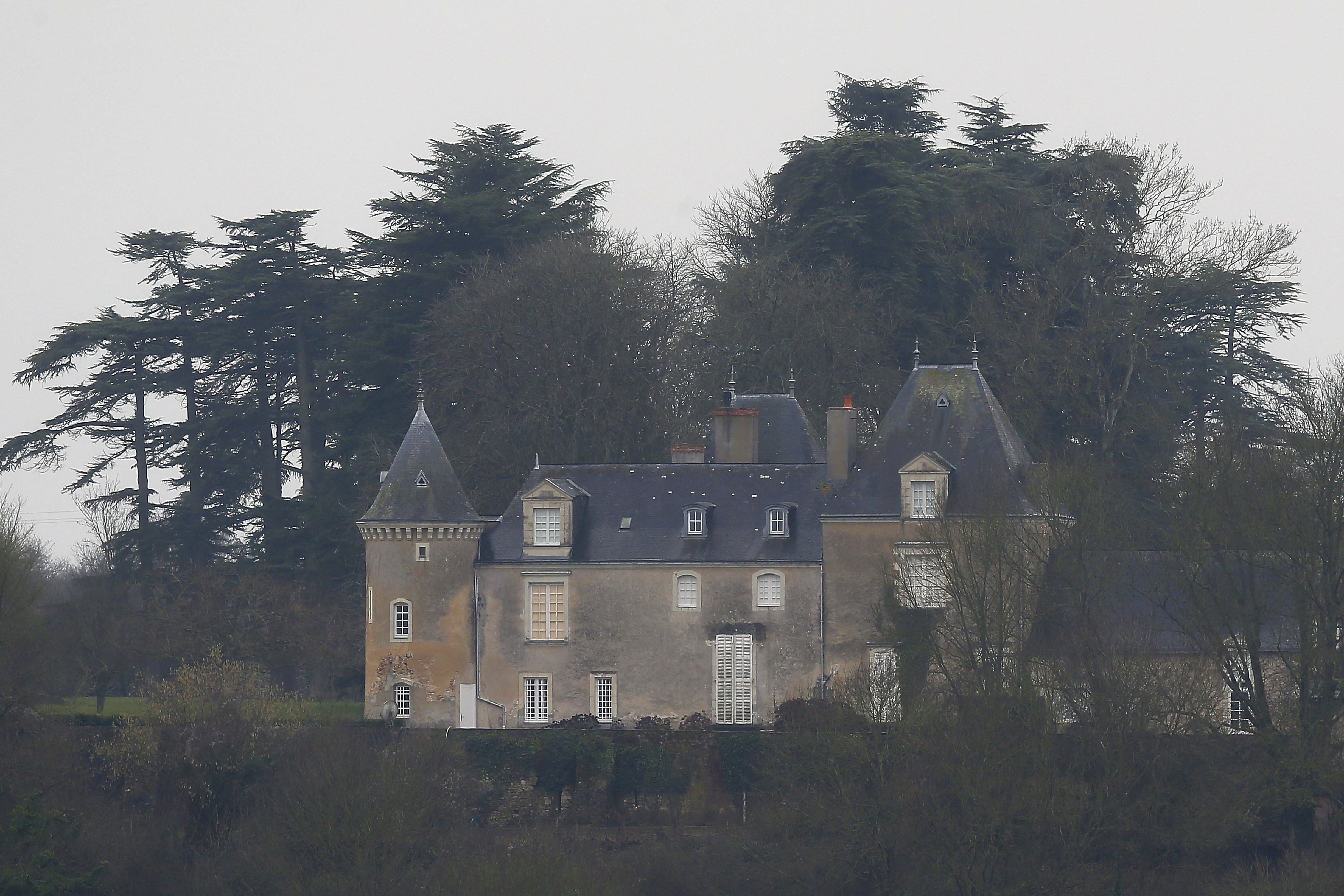 The Manoir de Beauce, or Beauce manor, the family home of conservative presidential candidate Francois Fillon is pictured near Solesmes, western France on Feb. 2, 2017. (AP Photo/David Vincent)
