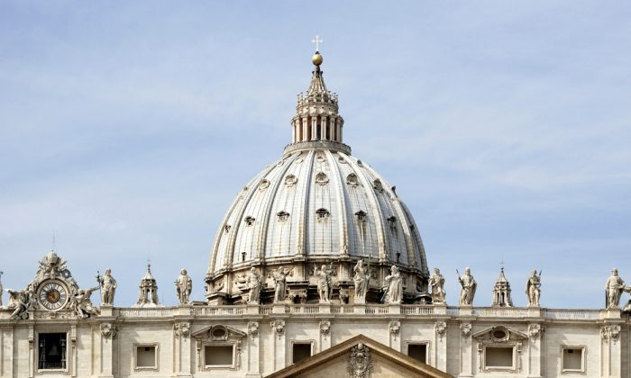 Dome of the Saint Peters Basilica in the Vatican City in Rome on September 22, 2011. (Peter Probst/Shutterstock)