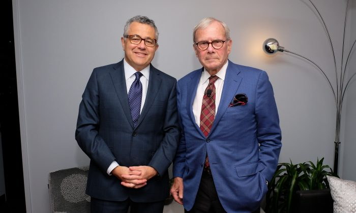 Jeffrey Toobin (L) and Tom Brokaw attend SAG-AFTRA Foundation's Conversations with Tom Brokaw at the SAG-AFTRA Foundation Robin Williams Center on October 7, 2016 in New York City.  (Photo by D Dipasupil/Getty Images for SAG-AFTRA Foundation)