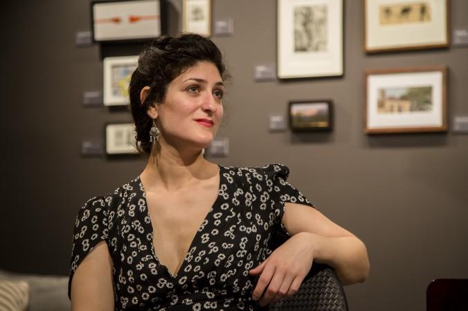 Michelle Ross at Eleventh Street Arts on Jan. 12. (Samira Bouaou/Epoch Times)