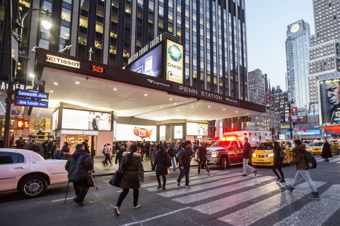 Entrance to Pennsylvania  Station at Seventh Avenue in New York, on Feb. 6, 2017. (Samira Bouaou/Epoch Times)