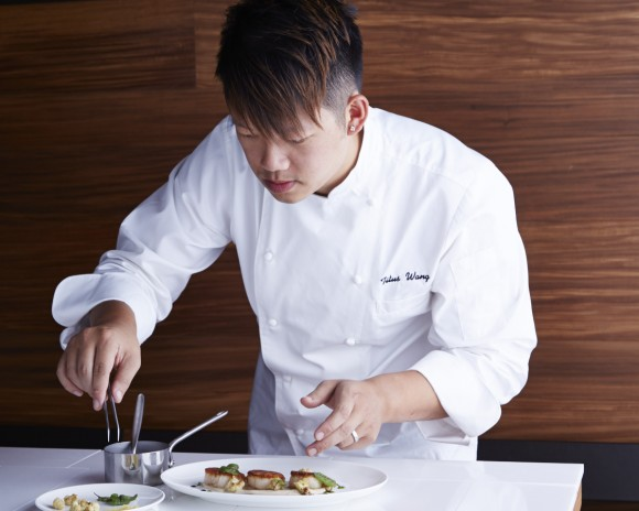 Chef Titus Wang often makes use of Asian ingredients in classic dishes. (Armando Rafael)