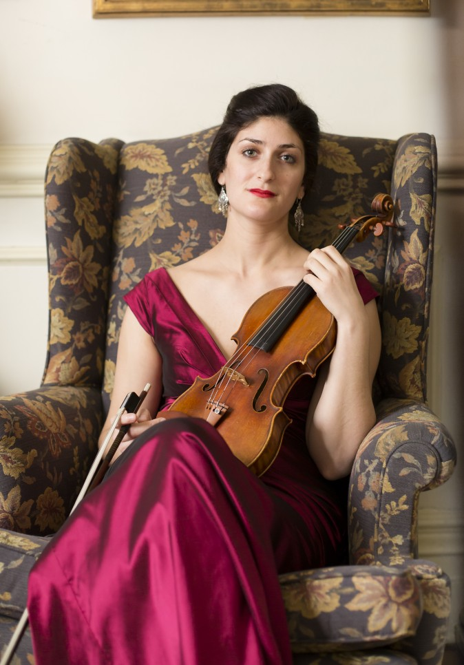 Violinist and composer Michelle Ross at Salmagundi Art Club in Manhattan, New York, on Jan. 30, 2017. (Samira Bouaou/Epoch Times)