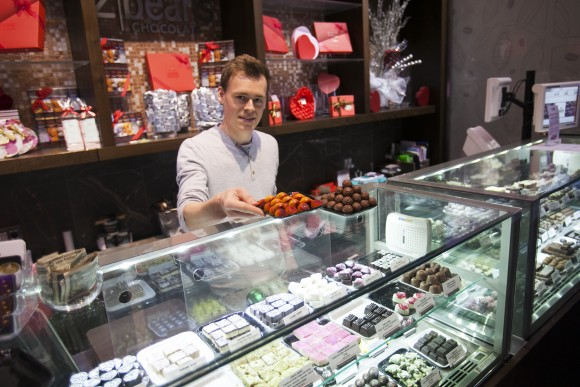 2Beans' collection of bonbons includes artisanal confections from Christopher Elbow and Surbhi Sahni. (Channaly Philipp/Epoch Times)