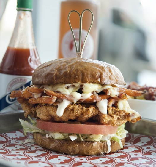 The Love Bird sandwich. (Courtesy of Blue Ribbon Fried Chicken)