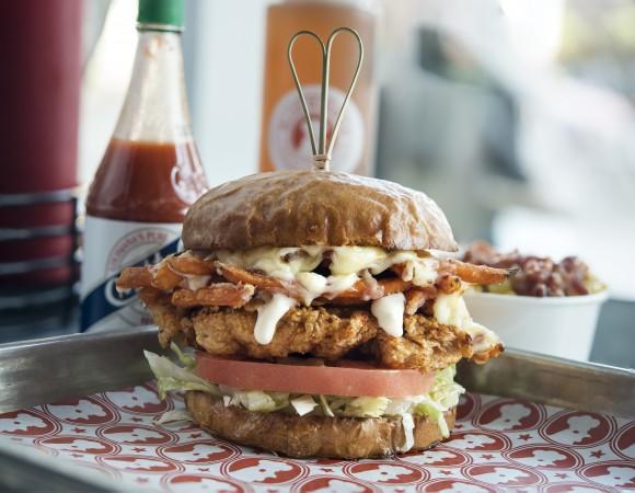 The Love Bird sandwich. (Courtesy of Blue Ribbon Fried Chicken)