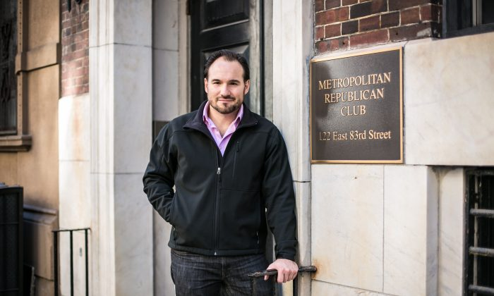 Allan Stevo outside the Metropolitan Republican Club in Manhattan on Feb. 6. Stevo says he and six others were removed from the respected club's board because they supported Donald Trump. (Benjamin Chasteen/Epoch Times)