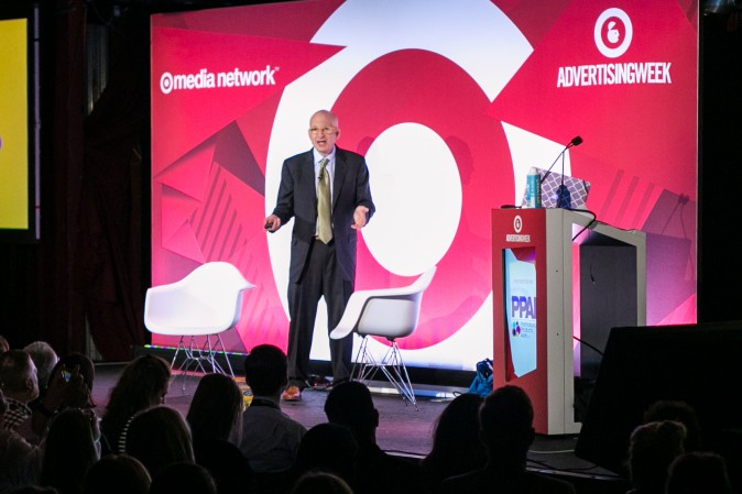 Author, Entrepreneur and Marketer Seth Godin  during 2016 Advertising Week New York on Sept. 27, 2016. (Benjamin Chasteen/Epoch Times)