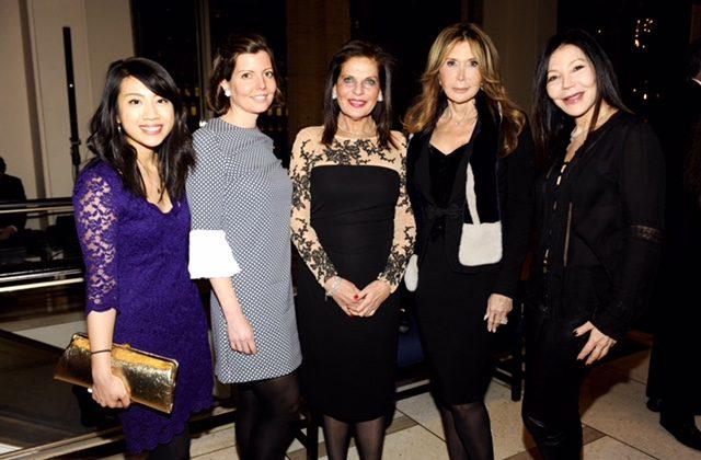 (L-R) Wendy Sy, Sibylle Eschapasse, Sylvia Hemingway, Cheri Kaufman, Jane Scher. (Annie Watt)