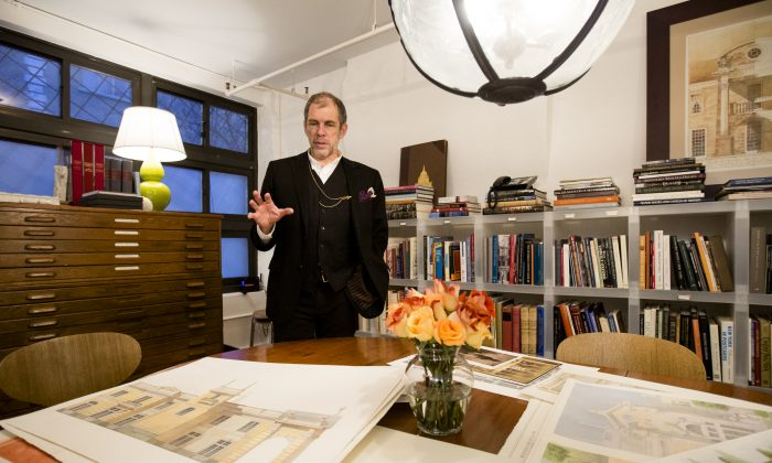 Richard Cameron, architectural designer and co-founder of Atelier & Co. in Williamsburg, Brooklyn, on Jan. 19, 2017. (Samira Bouaou/Epoch Times)