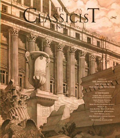 Cover of the first edition of The Classicist journal of the Institute of Classical Architecture & Art. (Courtesy of Richard Cameron)