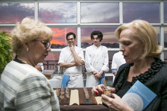 Attendees sample dishes by top chefs at last year's C-CAP gala. (Samira Bouaou/Epoch Times)