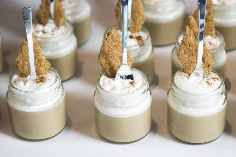 Espresso-white chocolate pudding by chef Sarabeth Levine of Sarabeth's at the C-CAP gala in 2016. (Samira Bouaou/Epoch Times)