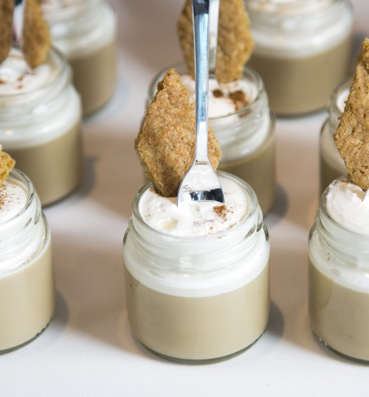 Espresso-white chocolate pudding by chef Sarabeth Levine of Sarabeth's at the C-CAP gala in 2016. (Samira Bouaou/Epoch Times)