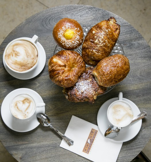 French croissants at Ceci Cela in the Lower East Side, New York City, on April 20, 2016. (Samira Bouaou/Epoch Times)