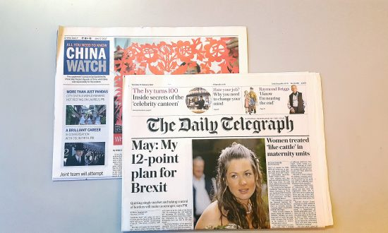 Daily Telegraph's Links With Chinese Communist Party Run Deep