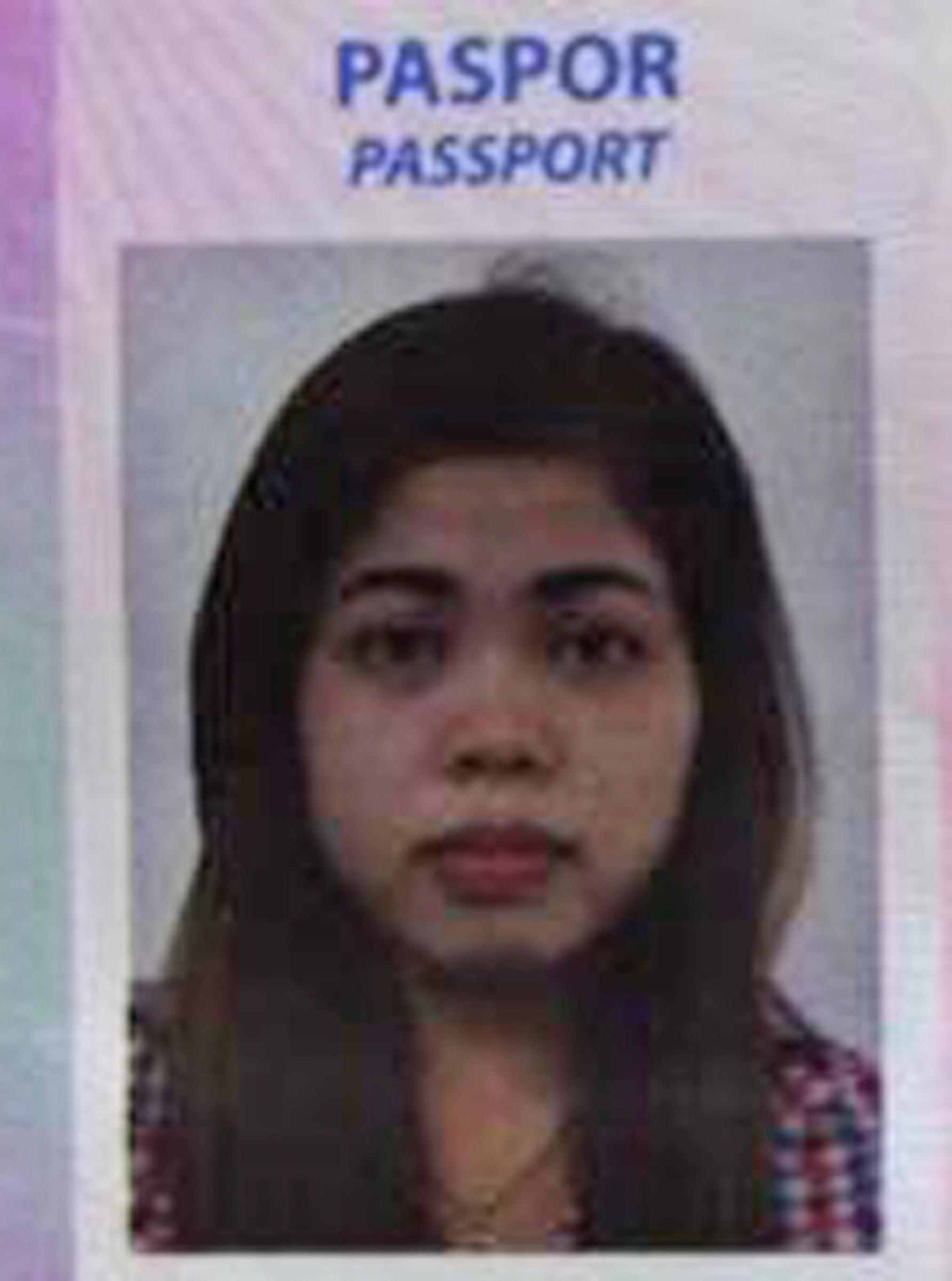 Portrait on the passport of Siti Aisyah. (Kumparan via AP)