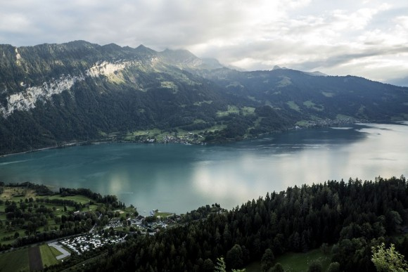 Lake Brienz, one of two lakes surrounding Interlaken, the other being Lake Thun. (Mohammed Reza Amirinia)