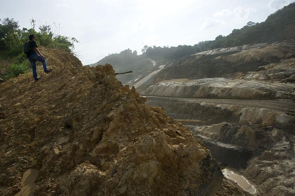 A coal mining area in Samarinda, East Kalimantan, Indonesia, on Nov. 9, 2013. (Bay Ismoyo/AFP/Getty Images)