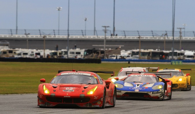 The top four GT Le Mans competitors traded the lead repeatedly until the final dozen laps of the Rolex 24. (Chris Jasurek/Epoch Times)